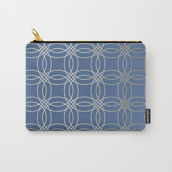 Simply Vintage Link in White Gold Sands and Aegean Blue Carry-All Pouch