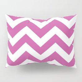 Mulberry (Crayola) - violet color - Zigzag Chevron Pattern Pillow Sham
