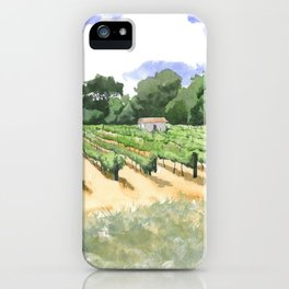 Roadside Vineyard iPhone Case
