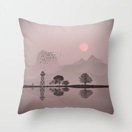 The pearl lake Throw Pillow