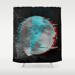Glitch Galaxy Shower Curtain
