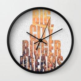 Big City Dreams Wall Clock