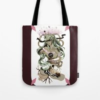 tarot Tote Bags featuring Star Tarot by A Hymn To Humanity