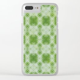 bigger tie-dye diamond in lime Clear iPhone Case