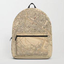 Vintage Map of Ghent Belgium (1841) Backpack