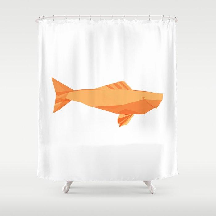 Origami Carp Shower Curtain