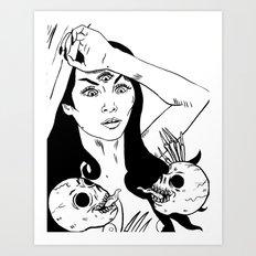 Skull Goddess Art Print