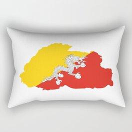 bhutan flag map Rectangular Pillow