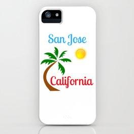 San Jose California Palm Tree and Sun iPhone Case