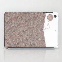 knitting iPad Cases featuring Knitting experience by Julia Kisselmann