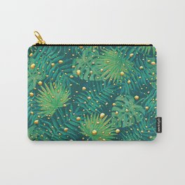 Tropical Gold Dots Carry-All Pouch