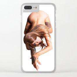 Cat Crawl Clear iPhone Case