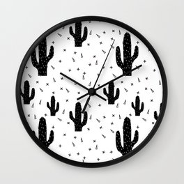Cactuses abstract modern print simple Wall Clock