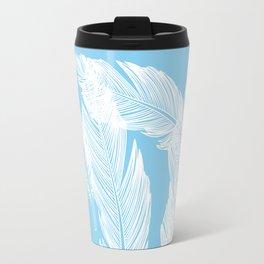 Baby blue feathers Travel Mug
