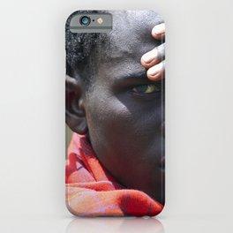 Portrait Maasai Warrior 4335 iPhone Case
