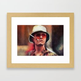 Hunter S. Thompson Smokes A Cigarette - Fear And Loathing In Las Vegas Framed Art Print