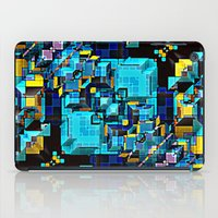 technology iPad Cases featuring Blue Technology Abstract by Phil Perkins