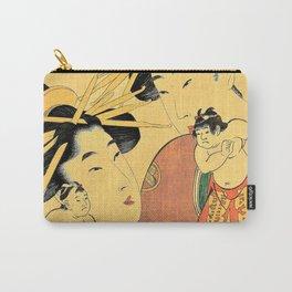 Kitagawa Utamaro - Top Quality Art - Matubayanai, Segawa and Ichikawa Carry-All Pouch