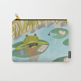 Evening Fly Watching / Friendly Frog at the Pond Carry-All Pouch