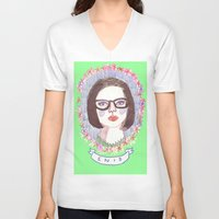 ghost world V-neck T-shirts featuring Ghost World by EmilyScribbles