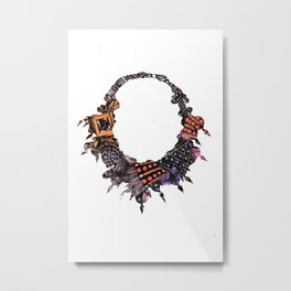 Beaded Necklace Metal Print