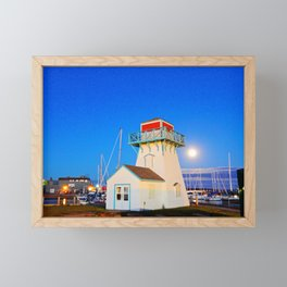 Summerside Harbour lighthouse Framed Mini Art Print