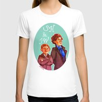 johnlock T-shirts featuring Sherlock and John by Hattie Hedgehog