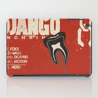 django iPad Cases featuring Django Unchained - Alternative movie poster by Stefanoreves