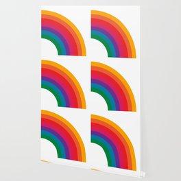 Retro Bright Rainbow - Right Side Wallpaper