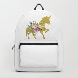 Unicorn Horse with Flowers Backpack