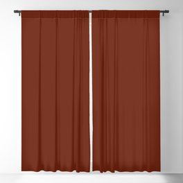 Best Seller Colors of Autumn Deep Rust Brown Single Solid Color - Accent Shade / Hue Blackout Curtain