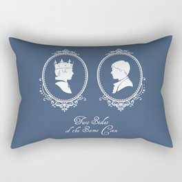 Two Sides of the Same Coin (white) Rectangular Pillow