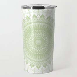 Boho Pastel Green Mandala Travel Mug