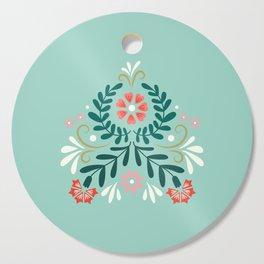Floral Folk Pattern Cutting Board