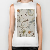 bicycles Biker Tanks featuring bicycles by Golden Boy