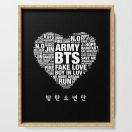 BTS ARMY Fan Art : Typography Serving Tray