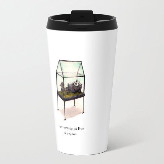 the wandering Eye in a wagon Travel Mug
