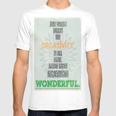 Something Wonderful Mens Fitted Tee White MEDIUM