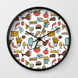 Food Frenzy white #homedecor Wall Clock