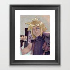 Final Fantasy - Cloud Strife Tribute Framed Art Print