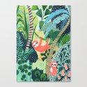 Jungle Sloth Family by amberstextiles