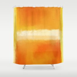 Mark Rothko Interpretation Orange On Orange Shower Curtain