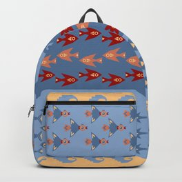 Inca Ethnic Pattern Fish and Birds Backpack