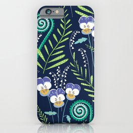 Love-in-idleness - violet iPhone Case
