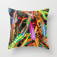 karu kara Throw Pillows featuring SIMPLY LEAVES by Catspaws