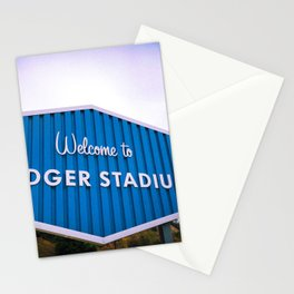 Welcome to Dodger Stadium | Los Angeles California Nostalgic Iconic Sign Sunset Art Print Tapestry Stationery Cards