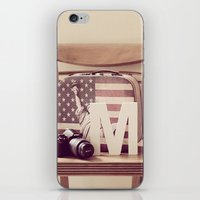 kit king iPhone & iPod Skins featuring Travel Kit  by Mandy_faith