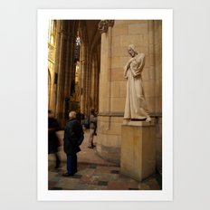 Statue of Christ in St Vitus Cathedral  Art Print