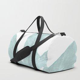 Ice Blue Fern in Summer White Duffle Bag