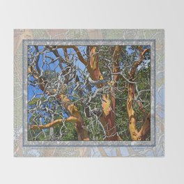 MADRONA TREE DEAD OR ALIVE Throw Blanket